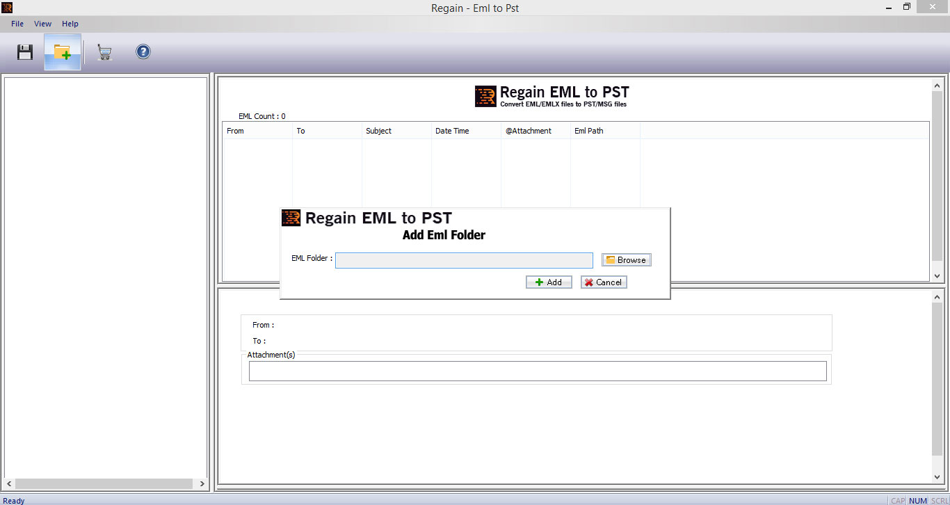 Click to view EML to PST Converter 1.0.0.4 screenshot